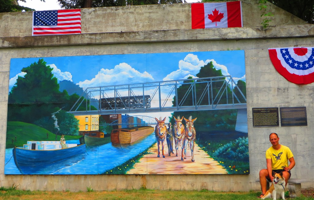 Mural depicting history from long ago in Lyons, NY (1024x655)